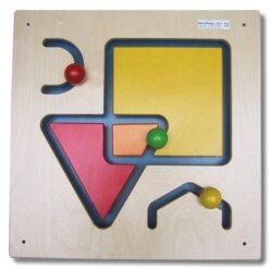 Wandspiel Form und Farbe