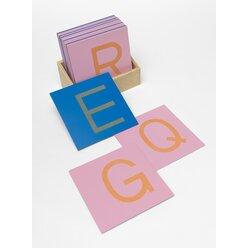 Sandpapiergroßbuchstaben Druckschrift, Sinnesmaterial, Kindergarten/1.-4. Klasse