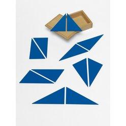 12 blaue Dreiecke, Holzformen mit Aufbewahrungsbox, 4-10 Jahre