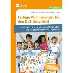 Farbige Wimmelbilder für den DaZ-Unterricht, 7 Poster A1 inkl. Begleitband, 1.-4. Klasse