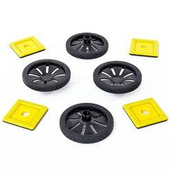 Magnetic Polydron Räder-Erweiterungs-Set 8 Teile
