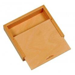Holzbox mit Schiebedeckel zum Hochstellen