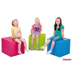 Pänz Spiel- und Sitzwürfel hellgrün, phthalatfrei, 50 x 45 cm