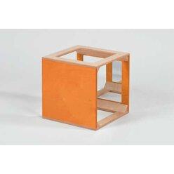 Würfel mit Spiegel orange