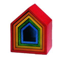 Regenbogen-Häuschensatz