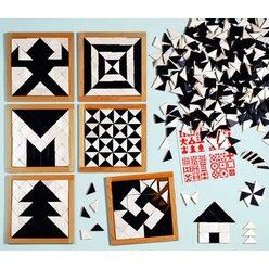 Magisches Mosaik schwarz-weiß, ab 3 Jahre