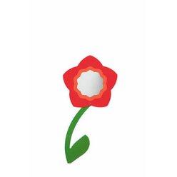 Rose, Wandspiegel