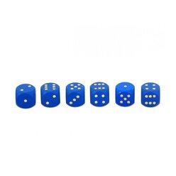 10 Augenwürfel aus Holz 18 mm, blau