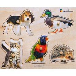 Holz-Puzzle Tier-Kollektiv, ab 2 Jahre