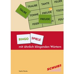 Bingospiele mit ähnlich klingenden Wörtern, 8-12 Jahre