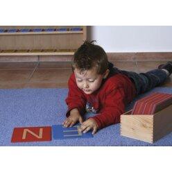Sandpapier Großbuchstaben 109678 ohne Kasten, Kindergarten/1.-4. Klasse