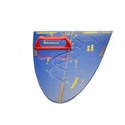 Parabelschablone 50 cm mit Vollmagnetstreifen Magneto PROFI-linie (162650.M00)