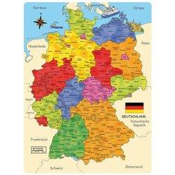 Deutschland Puzzle - die Deutschlandkarte als Holzpuzzle