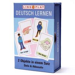 LingoCards Deutsch Lernen: 2 Objekte in einem Satz - Sätze mit Dativ und Akkusativ, ab 8 Jahre