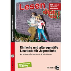 Einfache und altersgemäße Lesetexte für Jugendliche, Buch inkl. CD, 7.-9. Klasse