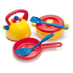 dantoy® Sandspielzeug, Kessel Topfset im Netz, 7 Teile