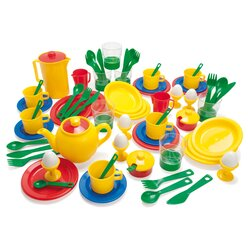 dantoy® Sandspielzeug, Frühstückservice KIGA-Packung, 78 Teile
