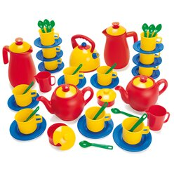 dantoy® Sandspielzeug, Kaffee- und Teeservice für 12 Kinder, 45 Teile