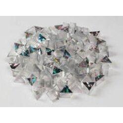 Prismo Glitzer Dreiecke 200 Stück Gold und Silber transparent