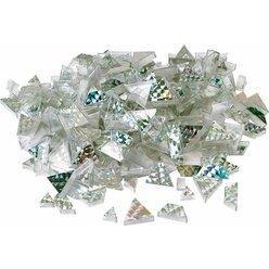 Prismo Glitzer Trapeze 300 Stück Silber durchgefärbt