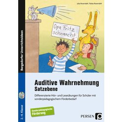 Auditive Wahrnehmung - Satzebene, Buch inkl. Audio-CDs, 2. bis 4. Klasse