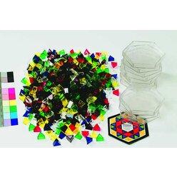 Prismo Dreiecke mit Legerahmen 10er-Set transparent (Großpackung) inkl. Vorlagen