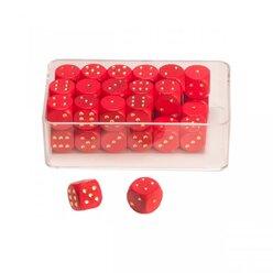 35 Augenwürfeln aus Holz 14 mm, rot