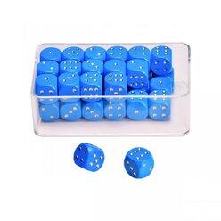 35 Augenwürfeln aus Holz 14 mm, blau