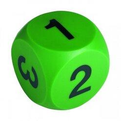 Ziffernwürfel groß, 10 cm, 1-6, grün