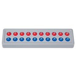 Abaco 20 mit Zahlen - Modell A 10/10 Kugeln (rot/blau), 4-7 Jahre