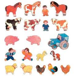 Magnetische bedruckte Figuren, 35 Teile