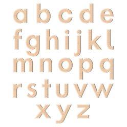 Magnetische Kleinbuchstaben, 52 Teile