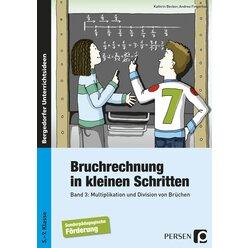 Bruchrechnung in kleinen Schritten 3, Buch, 5.-9. Klasse