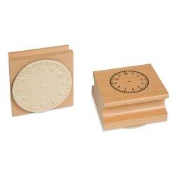 Uhrstempel: arabische Ziffern (bis 12 Uhr), ab 6 Jahre