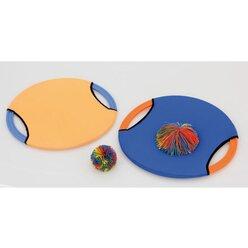 Wuselball-Springspiel mit 2 Schlägern Ø 35 cm,