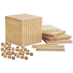 Mathematische Holzwürfel mit Tausenderwürfel, ab 4 Jahre