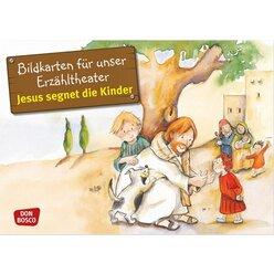 kamishibai bildkartenset - jesus segnet die kinder, 3-8 jahre von don bosco | spielundlern