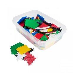 Lokon 156 Bauplättchen mit 3 geometrischen Formen: Dreieck, Viereck und Fünfeck, ab 4 Jahre