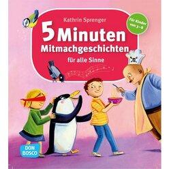 5-Minuten-Mitmachgeschichten für alle Sinne, Buch, 3-8 Jahre