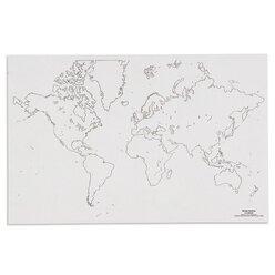 Weltkarte - Umriss