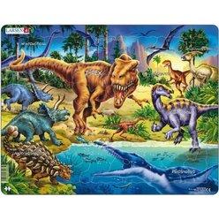 Larsen Lernpuzzle Dinosaurier aus der Kreidezeit