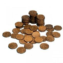 Geld Euro-Münzen Spielgeld 20 Cent