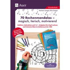 70 Rechenmandalas - magisch, tierisch, motivierend, Buch, 1.-3. Klasse