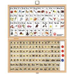 Magnetischer Buchstabenkasten - Buchstaben und Laute, 120 Teile