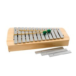 Alt-Metallophon diatonisch c1 bis a2, 16 Klangstäbe