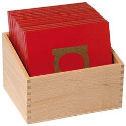 Sandpapier-Kleinbuchstaben, 30 Stück