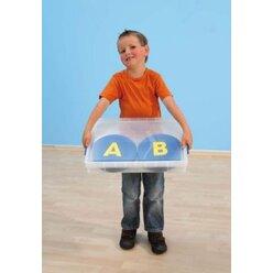 Buchstaben-Matten rutschfest in Kunststoffbox 26 Stück