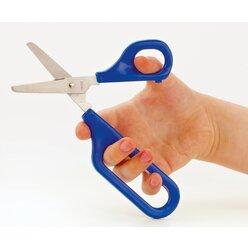 Selbstöffnende Schere mit grosser und kleiner Fingerhalterung blau