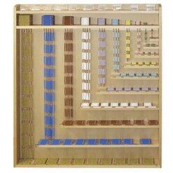 Perlenmaterial Komplettsatz, Montessori-Material Mathematik, ab 5 Jahre