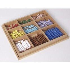 Kasten mit Perlenstäbchen für das Multiplikationsbrett